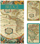 bridge set| large print playing cards|partially sited |